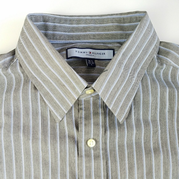 28eb1f7d Tommy Hilfiger Shirts | Euc Ithaca Mens Large Striped Long | Poshmark